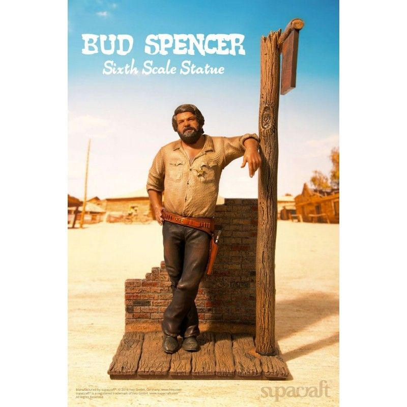 "BUD SPENCER ""BAMBINO"" 1970 STATUE 44 CM 1/6 RESIN FIGURE SUPACRAFT"