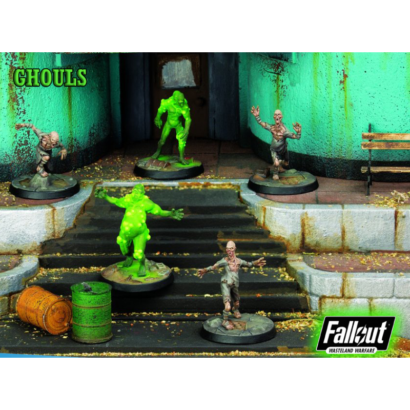MODIPHIUS ENTERTAINMENT FALLOUT WASTELAND WARFARE - GHOULS MINIATURE TABLETOP ROLEPLAYING GIOCO DI RUOLO