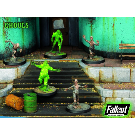 FALLOUT WASTELAND WARFARE - GHOULS MINIATURE TABLETOP ROLEPLAYING GIOCO DI RUOLO