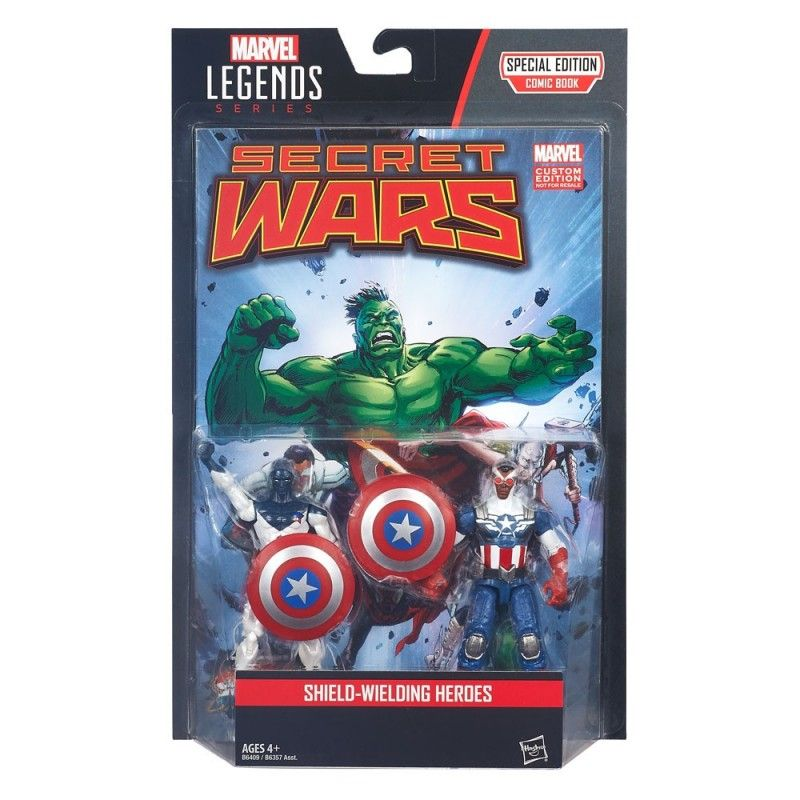 MARVEL LEGENDS SECRET WARS - VANCE ASTRO + CAPTAIN AMERICA ACTION FIGURE HASBRO