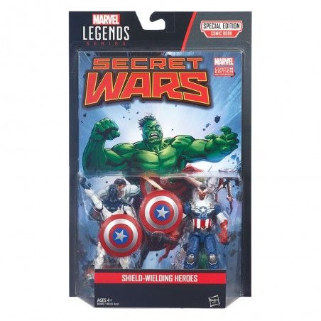 MARVEL LEGENDS SECRET WARS - VANCE ASTRO + CAPTAIN AMERICA ACTION FIGURE
