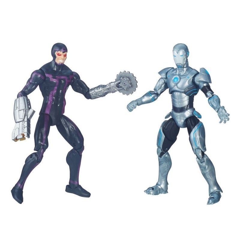 MARVEL LEGENDS SECRET WARS - MACHINE MAN + SUPERIOR IRON MAN ACTION FIGURE HASBRO