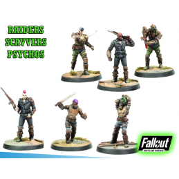 MODIPHIUS ENTERTAINMENT FALLOUT WASTELAND WARFARE - RAIDERS SCAVVERS AND PSYCHOS MINIATURE TABLETOP ROLEPLAYING GIOCO DI RUOLO