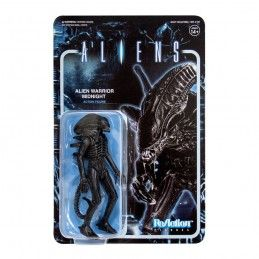 SUPER7 ALIENS REACTION WAVE 1- ALIEN WARRIOR MIDNIGHT BLACK ACTION FIGURE