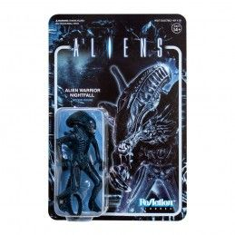 SUPER7 ALIENS REACTION WAVE 1- ALIEN WARRIOR NIGHTFALL BLUE ACTION FIGURE