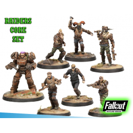 FALLOUT WASTELAND WARFARE - RAIDERS CORE SET MINIATURE TABLETOP ROLEPLAYING GIOCO DI RUOLO MODIPHIUS ENTERTAINMENT