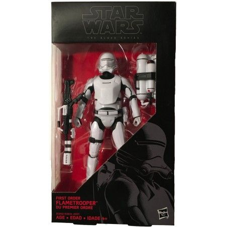 STAR WARS THE BLACK SERIES - FIRST ORDER FLAMETROOPER ACTION FIGURE