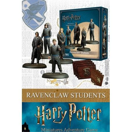 HARRY POTTER MINIATURES ADVENTURE GAME - RAVENCLAW STUDENTS MINI RESIN STATUE FIGURE