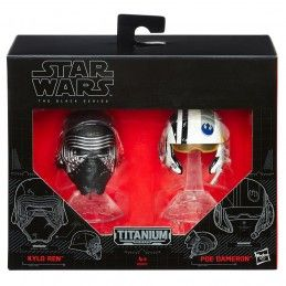 STAR WARS THE BLACK SERIES - KYLO REN + POE DAMERON DIE CAST HELMETS HASBRO