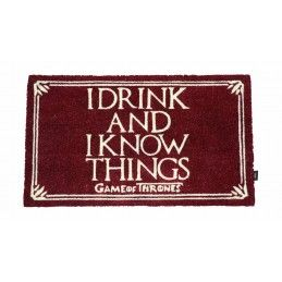 SD TOYS GAME OF THRONES I DRINK AND I KNOW THINGS ZERBINO 43X73CM TAPPETINO