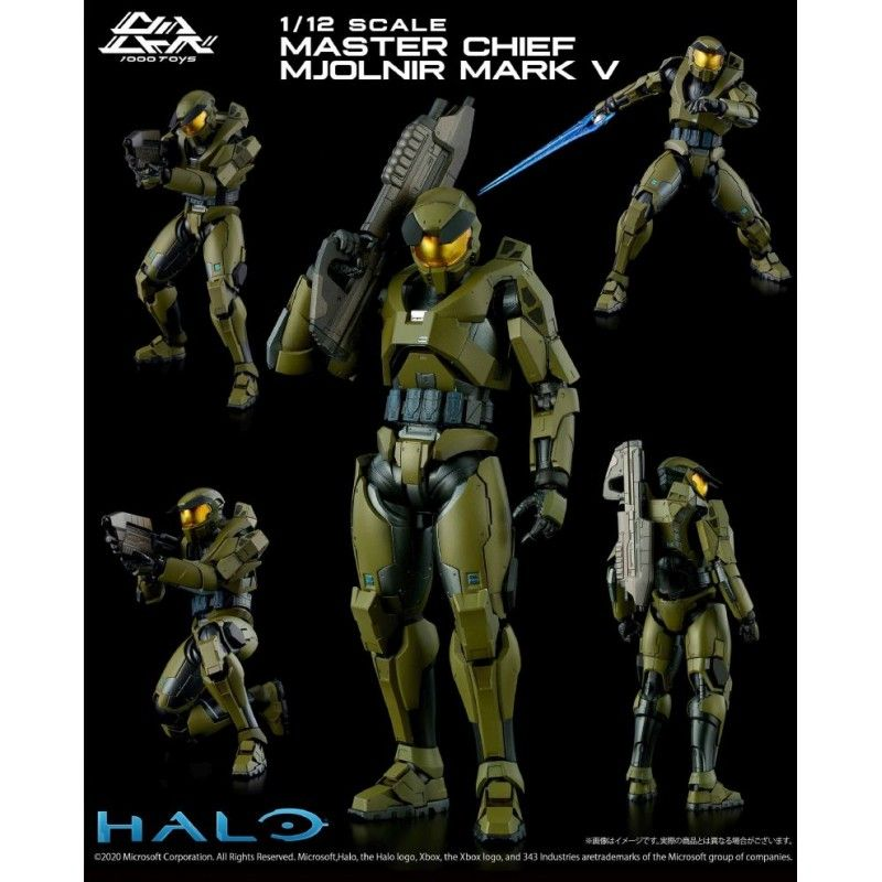 HALO 1/12 - MASTER CHIEF MJOLNIR MARK V 18CM ACTION FIGURE 1000TOYS