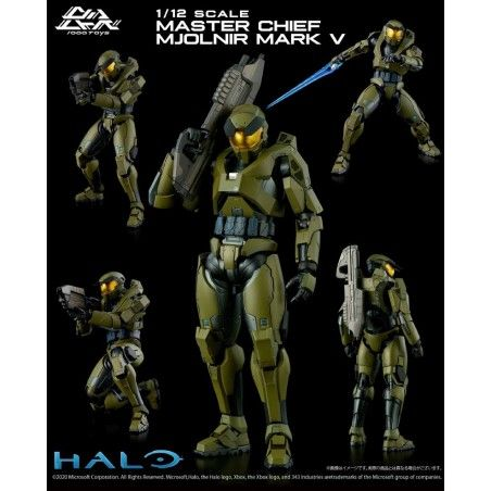 HALO 1/12 - MASTER CHIEF MJOLNIR MARK V 18CM ACTION FIGURE