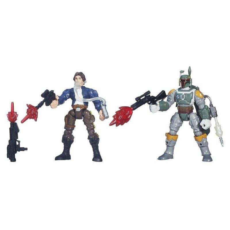 HASBRO STAR WARS HERO MASHERS - HAN SOLO VS BOBA FETT ACTION FIGURE