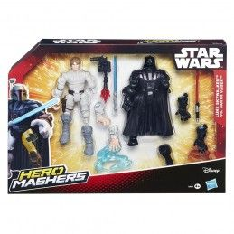 HASBRO STAR WARS HERO MASHERS - LUKE SKYWALKER VS DARTH VADER ACTION FIGURE