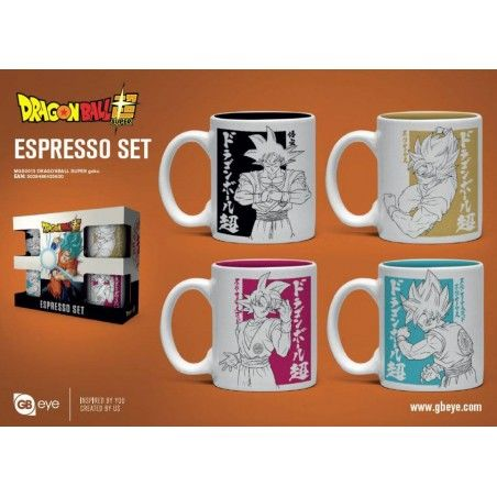 DRAGON BALL ESPRESSO SET 4-PACK MUGS SET 4 TAZZINE DA CAFFE