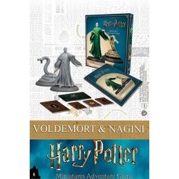 KNIGHT MODELS HARRY POTTER MINIATURES ADVENTURE GAME - VOLDEMORT AND NAGINI MINI RESIN STATUE FIGURE