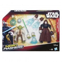 HASBRO STAR WARS HERO MASHERS - YODA VS EMPEROR PALPATINE ACTION FIGURE
