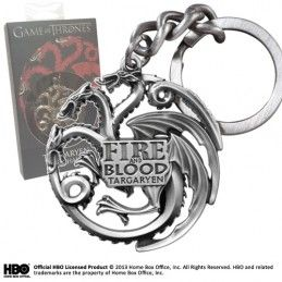 NOBLE COLLECTIONS GAME OF THRONES TARGARYEN METAL KEYCHAIN PORTACHIAVI TRONO DI SPADE