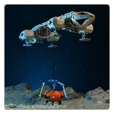 SPACE SPAZIO 1999 - RETRO VERSION COLLISON COURSE EAGLE 30CM REPLICA FIGURE