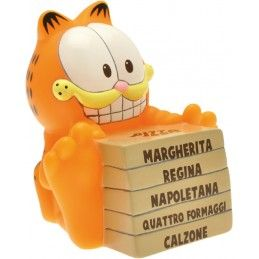GARFIELD PIZZA BANK SALVADANAIO FIGURE PLASTOY