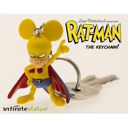 RAT-MAN PVC KEYCHAIN PORTACHIAVI LEO ORTOLANI FIGURE