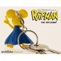 INFINITE STATUE RAT-MAN PVC KEYCHAIN PORTACHIAVI LEO ORTOLANI KEYRING