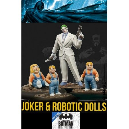 BATMAN MINIATURE GAME - JOKER AND ROBOTIC DOLLS MINI RESIN STATUE FIGURE