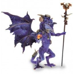 DRAGONS SERIES - VIOLET WIZARD DRAGON ACTION FIGURE PLASTOY