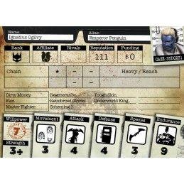 KNIGHT MODELS BATMAN MINIATURE GAME - EMPEROR PENGUIN MINI RESIN STATUE FIGURE