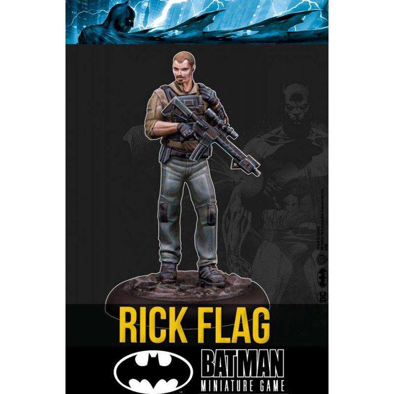 KNIGHT MODELS BATMAN MINIATURE GAME - RICK FLAG MINI RESIN STATUE FIGURE