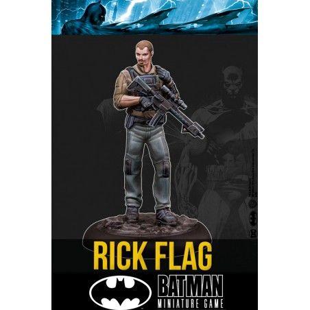BATMAN MINIATURE GAME - RICK FLAG MINI RESIN STATUE FIGURE
