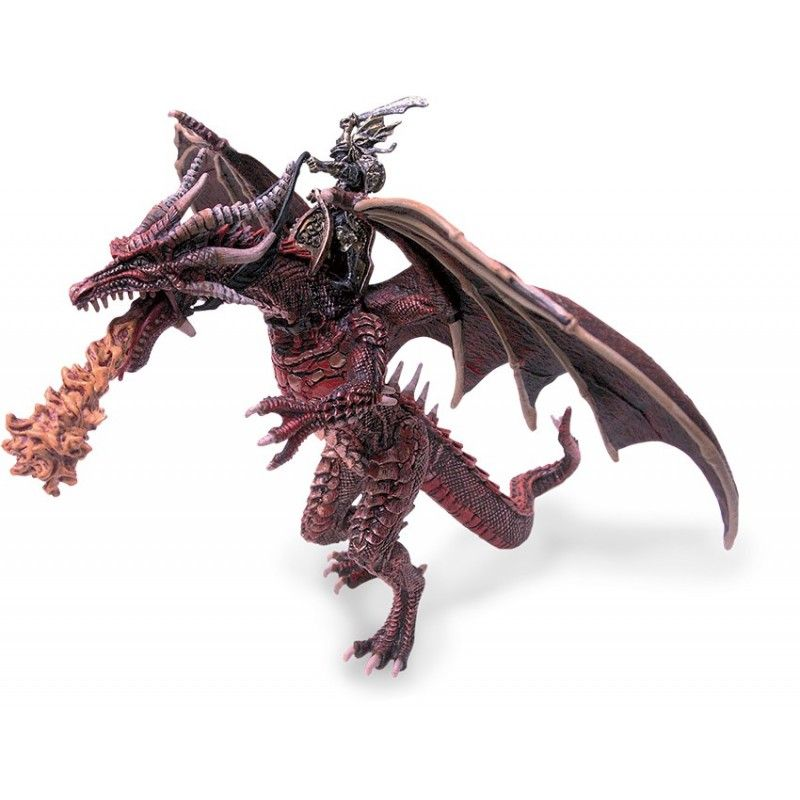 PLASTOY DRAGONS SERIES - BIG FLYING DRAGON WITH KNIGHT ACTION FIGURE
