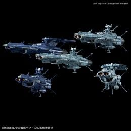 YAMATO 2202 MECHA COLLECTION U.N.C.F. AAA-CLASS SET 1/1000 MODEL KIT FIGURE BANDAI