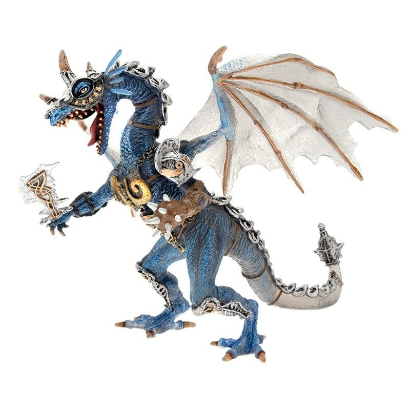 PLASTOY DRAGONS SERIES - BLUE ARMORED DRAGON ACTION FIGURE
