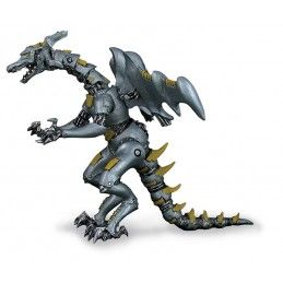 DRAGONS SERIES - GREY ROBOT DRAGON ACTION FIGURE PLASTOY
