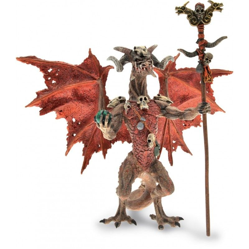 DRAGONS SERIES - RED WIZARD DRAGON ACTION FIGURE PLASTOY