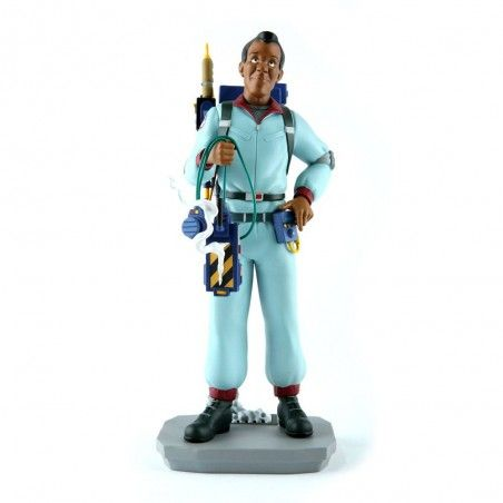 THE REAL GHOSTBUSTERS WINSTON ZEDDEMORE STATUE 25CM RESIN FIGURE
