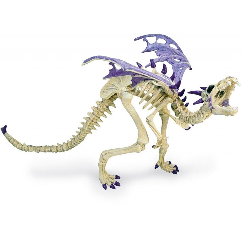 PLASTOY DRAGONS SERIES - VIOLET SKELETON DRAGON ACTION FIGURE