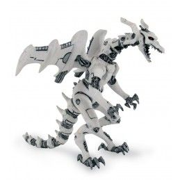 PLASTOY DRAGONS SERIES - WHITE ROBOT DRAGON ACTION FIGURE