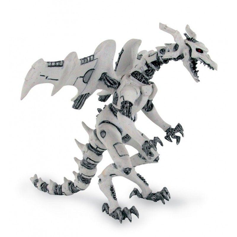 DRAGONS SERIES - WHITE ROBOT DRAGON ACTION FIGURE PLASTOY