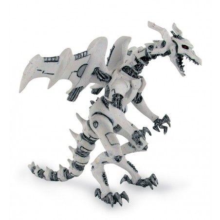 DRAGONS SERIES - WHITE ROBOT DRAGON ACTION FIGURE