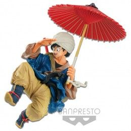BANPRESTO DRAGON BALL Z BWFC - SON GOKU UMBRELLA PVC STATUE 18CM FIGURE