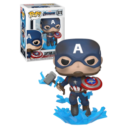 FUNKO POP! MARVEL AVENGERS ENDGAME CAPTAIN AMERICA BOBBLE HEAD FIGURE FUNKO