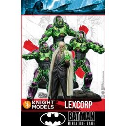 BATMAN MINIATURE GAME - LEX LUTHOR AND LEXCORP TROOPERS MINI RESIN STATUE FIGURE KNIGHT MODELS