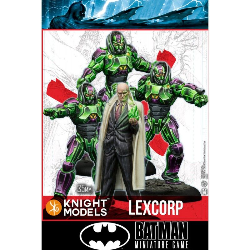 KNIGHT MODELS BATMAN MINIATURE GAME - LEX LUTHOR AND LEXCORP TROOPERS MINI RESIN STATUE FIGURE