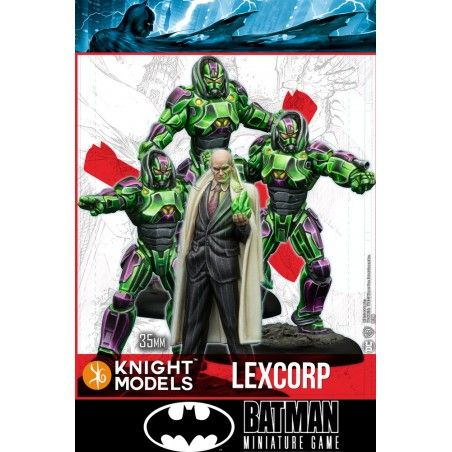 BATMAN MINIATURE GAME - LEX LUTHOR AND LEXCORP TROOPERS MINI RESIN STATUE FIGURE