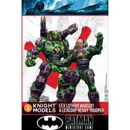 BATMAN MINIATURE GAME - LEX LUTHOR WARSUIT AND LEXCORP HEAVY TROOPER MINI RESIN STATUE FIGURE KNIGHT MODELS