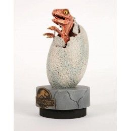 CHRONICLE COLLECTIBLES JURASSIC PARK - RAPTOR HATCHLING 1/1 STATUE 28CM RESIN FIGURE