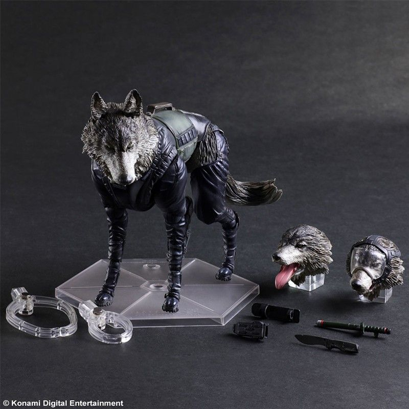 SQUARE ENIX METAL GEAR SOLID V THE PHANTOM PAIN D-DOG PLAY ARTS KAI PAK ACTION FIGURE