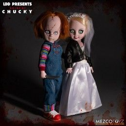 LIVING DEAD DOLLS LDD CHUCKY AND TIFFANY BOX SET 25CM ACTION FIGURE MEZCO TOYS